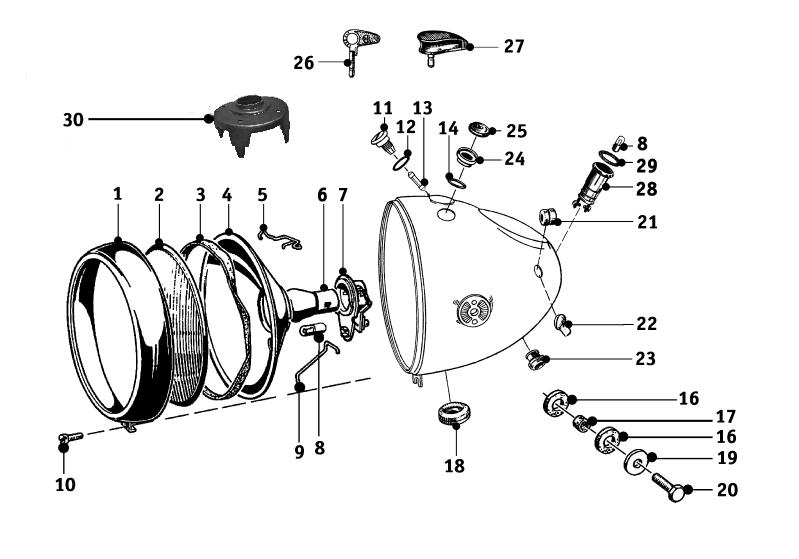 headlamp  1  r51  2 - r68