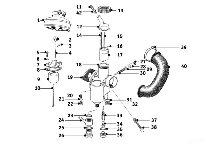Carburetor Ii R24 R25 3 Salis Parts Salis Parts