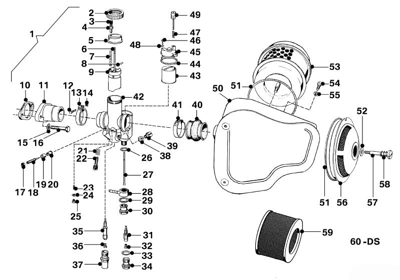 carburetor r26 r27 salis parts salis parts. Black Bedroom Furniture Sets. Home Design Ideas
