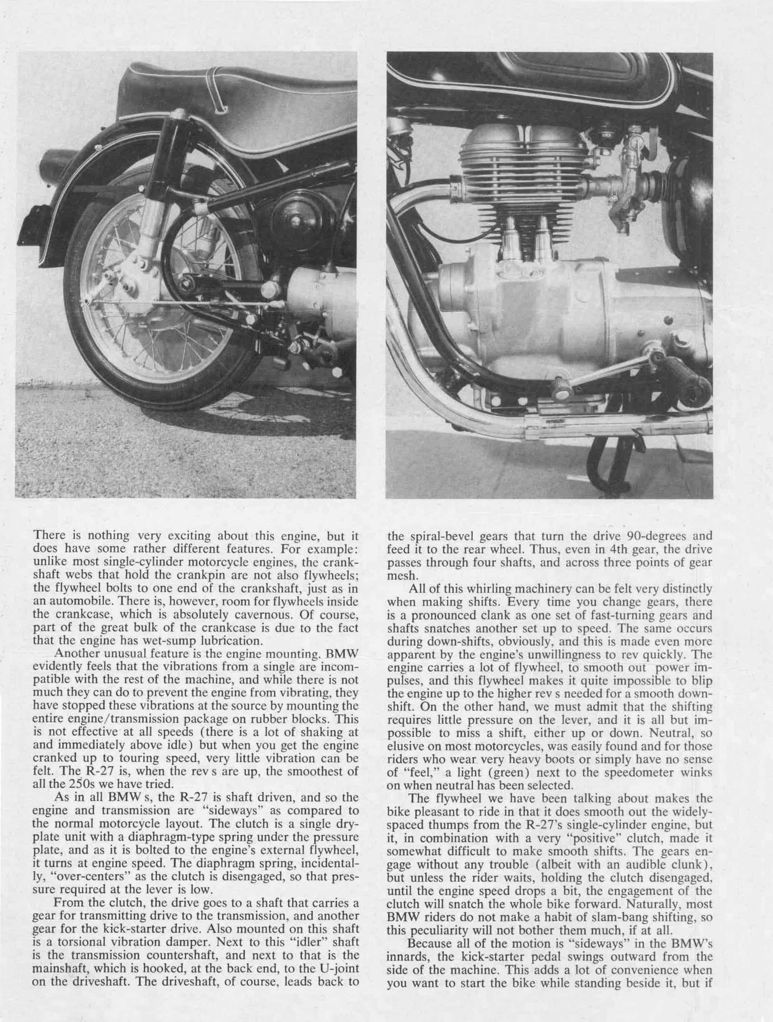 Road test BMW R27 1963