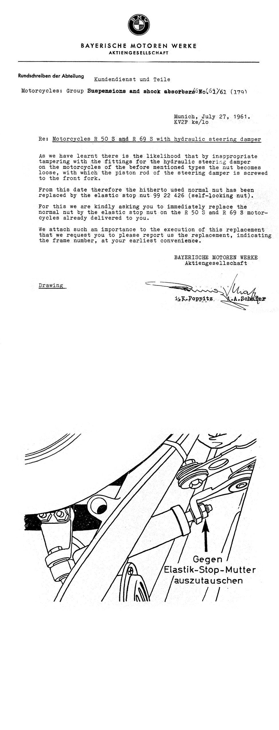 BMW Service sheet
