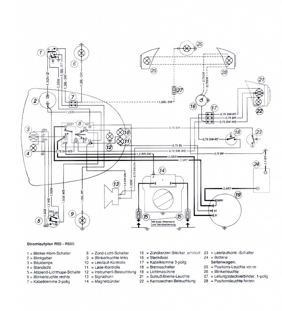 [ANLQ_8698]  Wiring diagram R50 - R69S 6V - Salis Parts Salis Parts | 2016 Bmw Motorcycle Wiring Diagram |  | BMW Classic Motorcycle Restorations BMW Classic Motorcycle Restorations